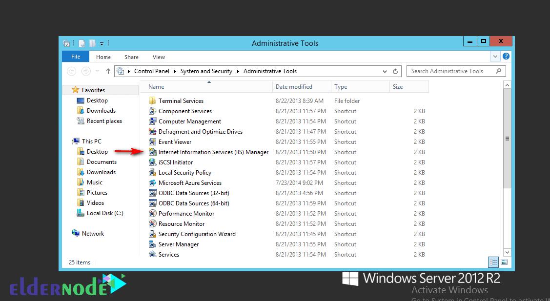 How to Install and run iis on Windows 2012