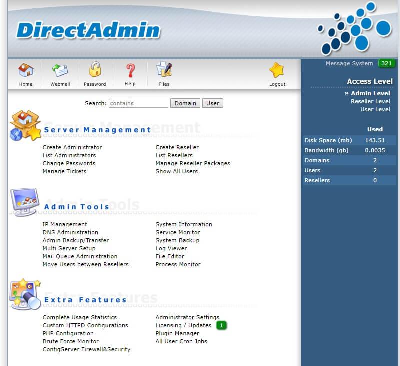directadmin-tutorial-eldernode