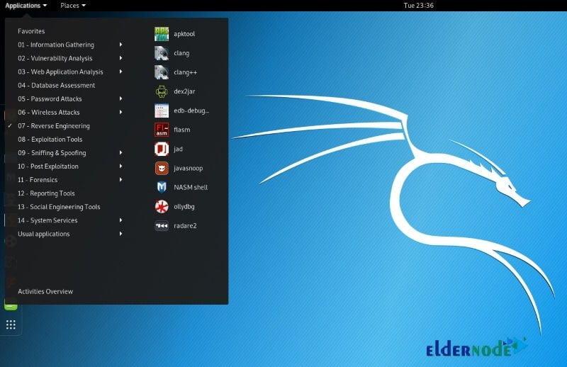 Kali Linux hack tools
