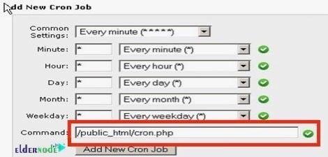 Add new cron job Command