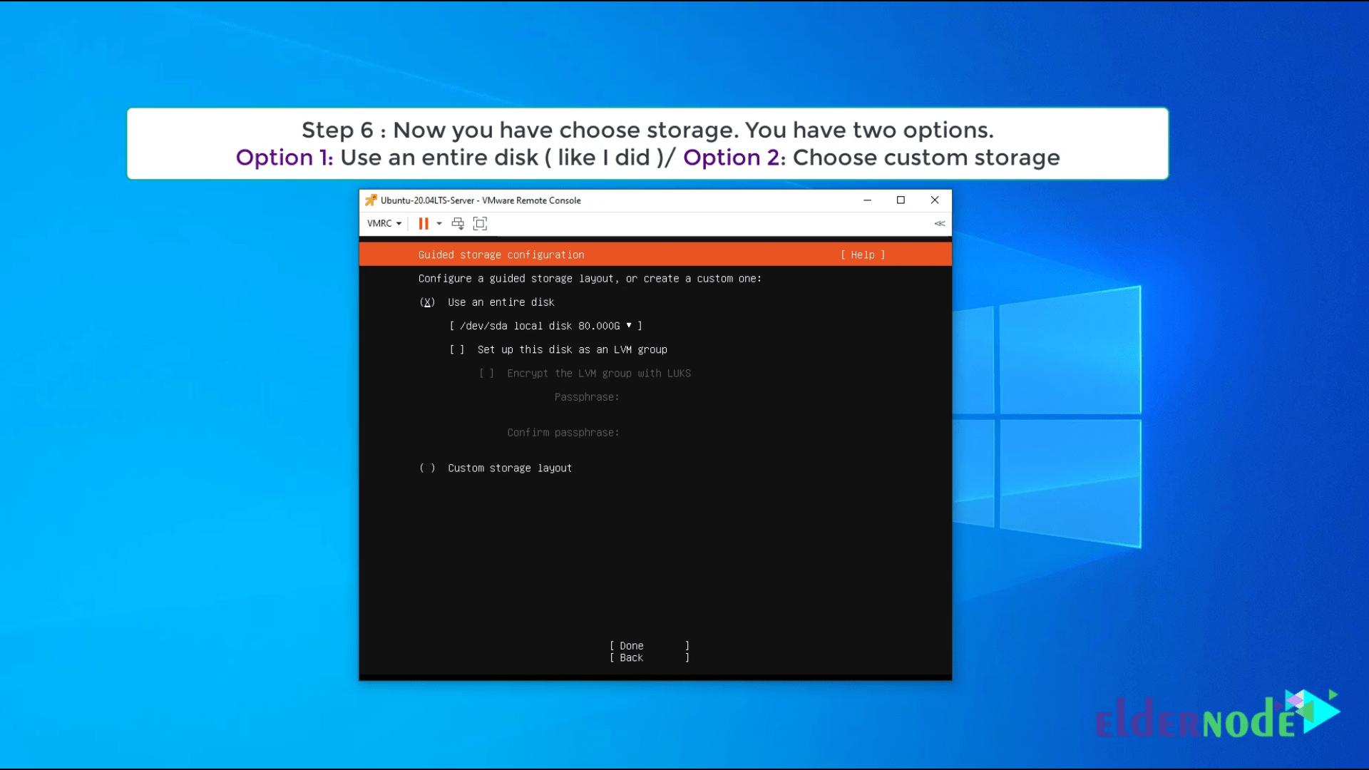 Install Ubuntu 20.04 LTS on vmware-6