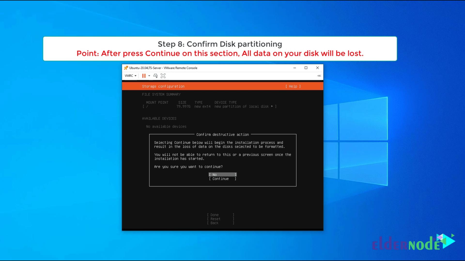 Install Ubuntu 20.04 LTS on vmware-8