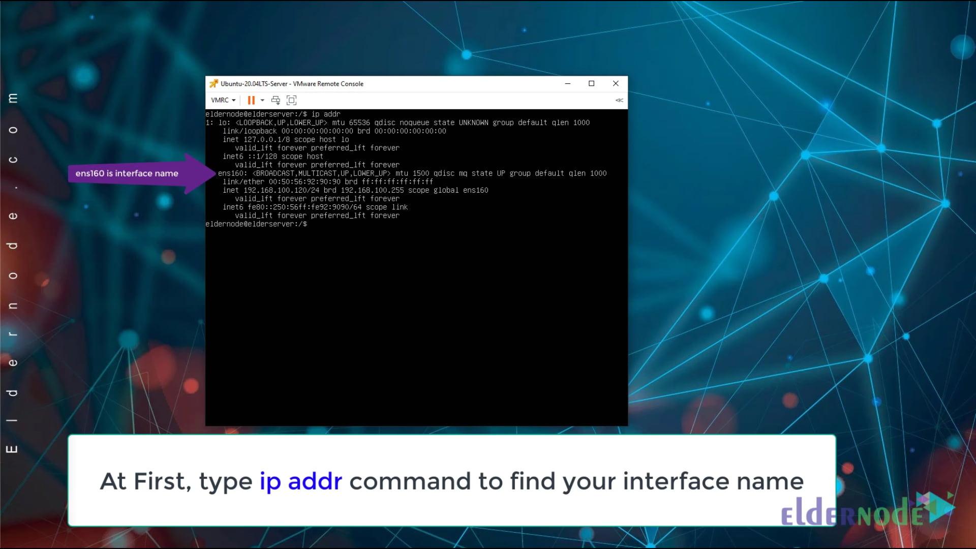 set ip static on ubuntu 20.04 lts server -1