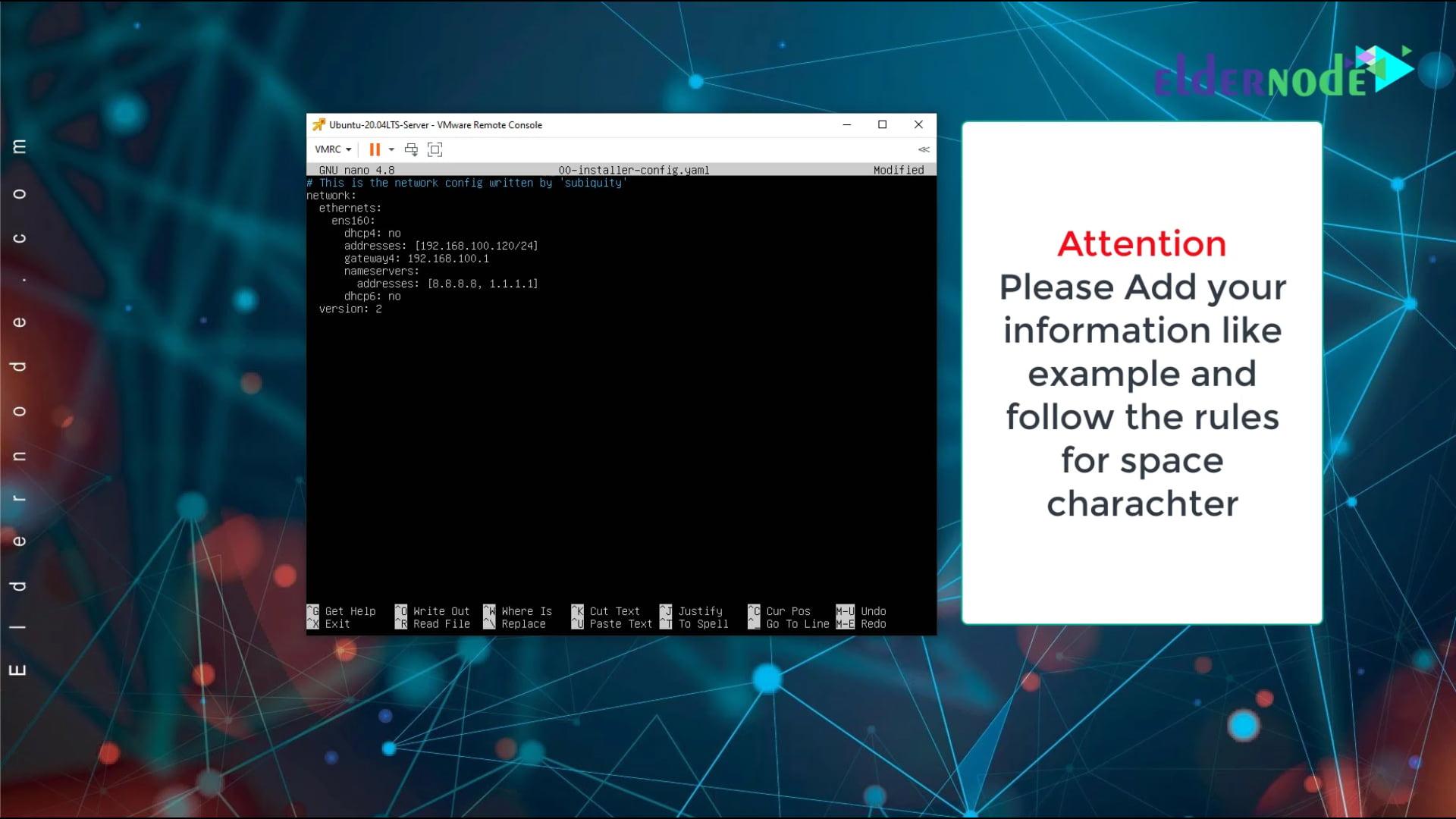 set ip static on ubuntu 20.04 lts server -2