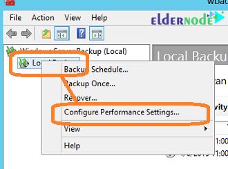 configure performance settings to backup