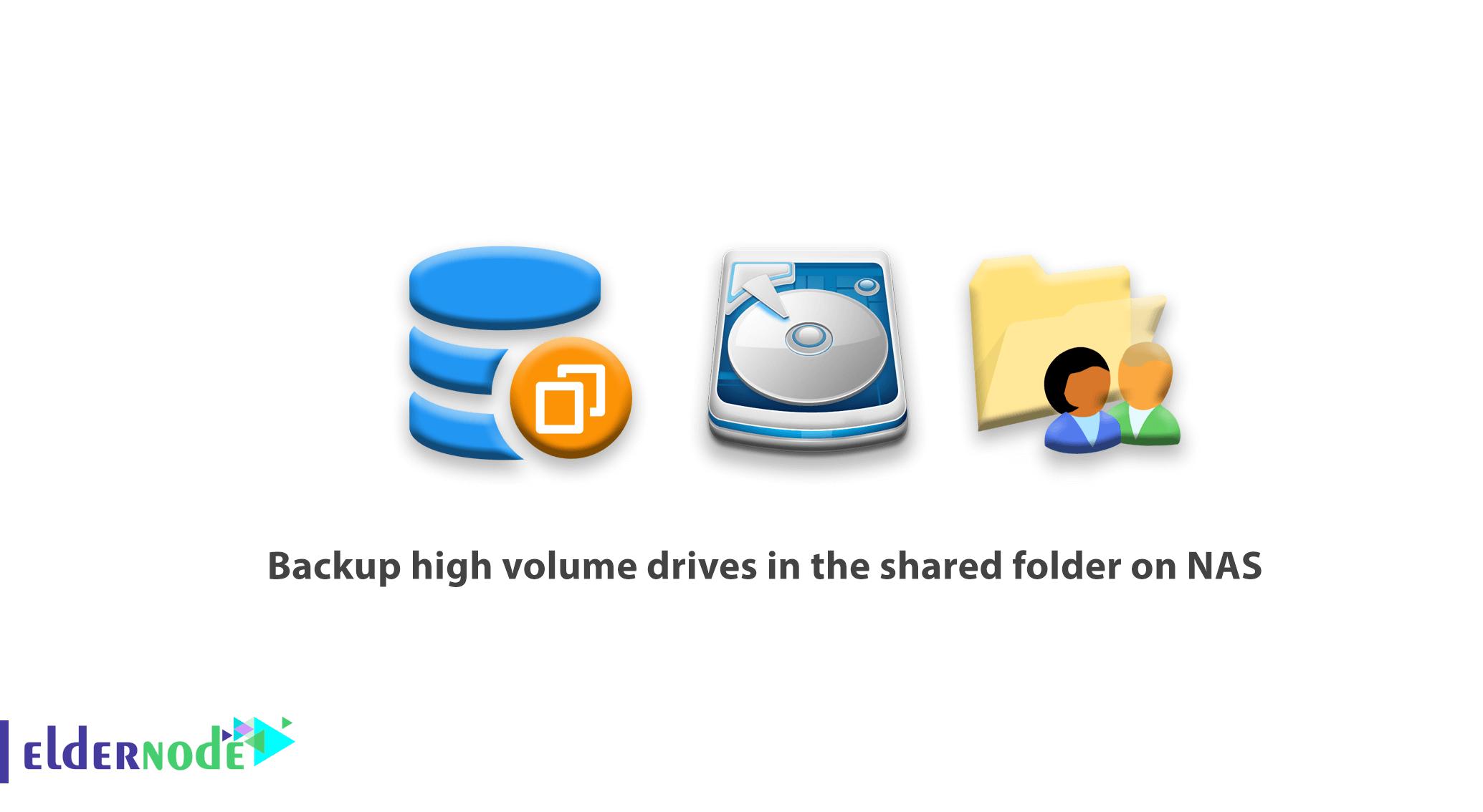 Backup high volume drives in the shared folder on NAS