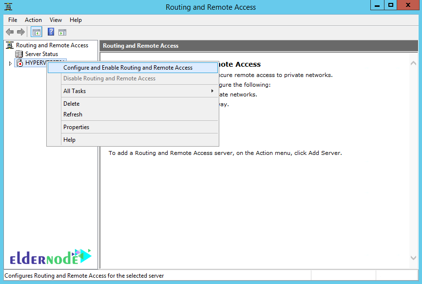 Configure and Enable Routing and Remote access