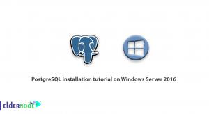 PostgreSQL installation tutorial on Windows Server 2016