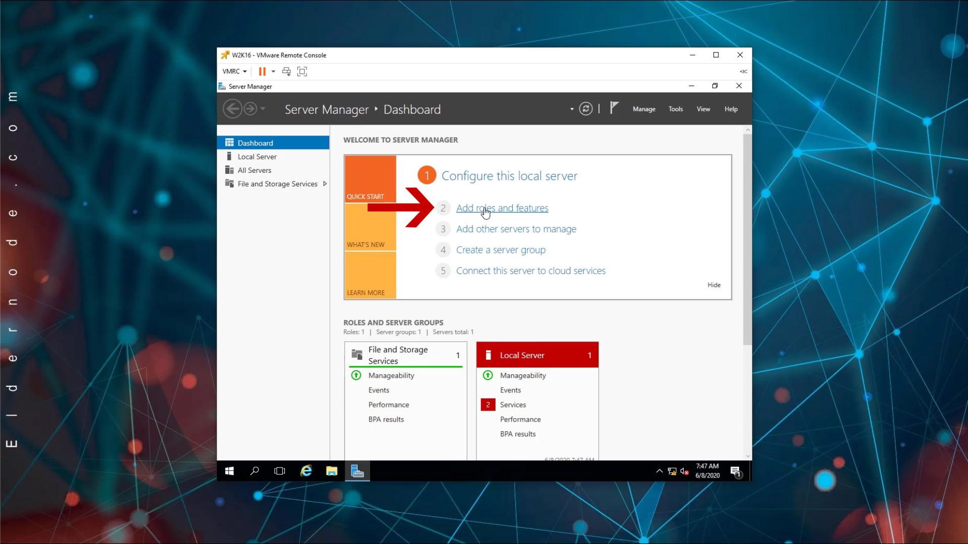 install dns on windows server 2016