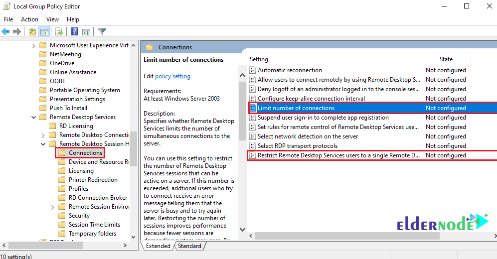 How to Set the RDP limitation on Windows Server