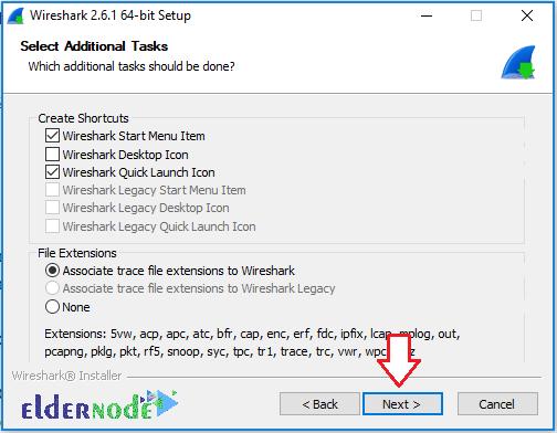 Wireshark installation on Windows-2-eldernode