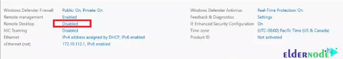 enable rdp on windows server 2019