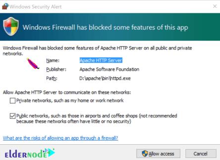 install apache on windows server