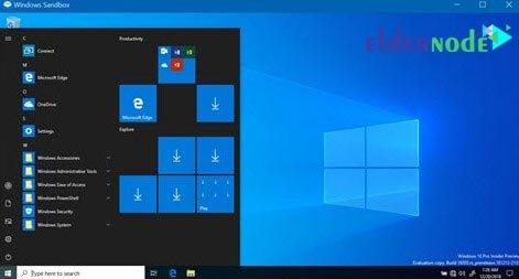 windows sandbox start menu