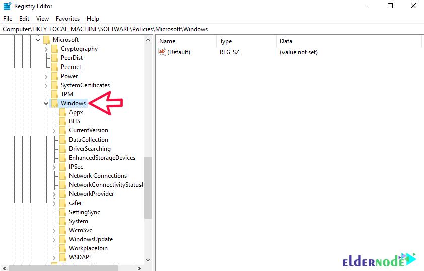 registry setting to set Windows 10 Update