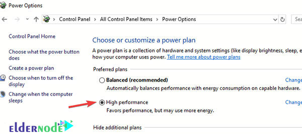 how to choose power plan in windows 10