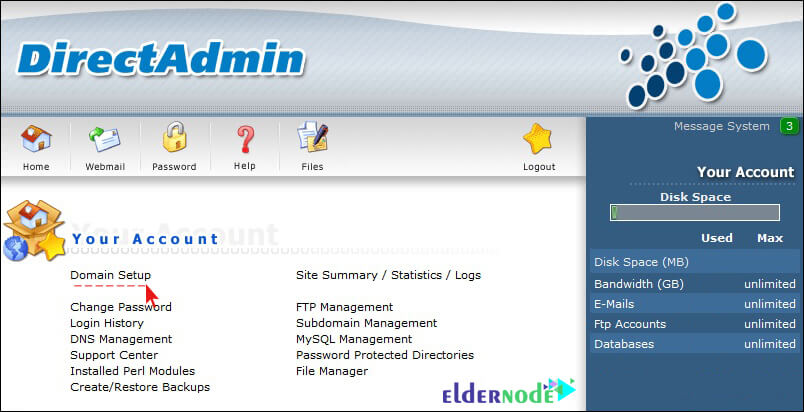 Directadmin admin interface How to change the php version in Direct Admin