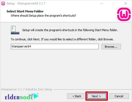 set wamp folder name on windows 10