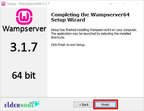 wamp server setup is finished