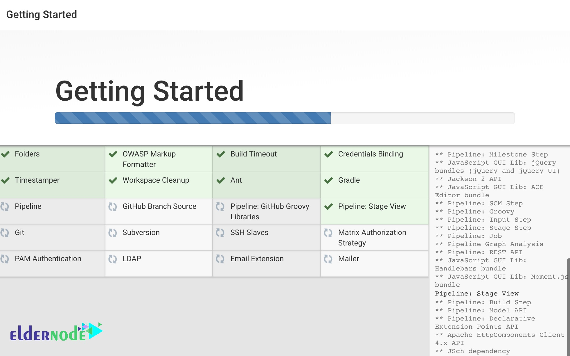 Jenkins installation process page
