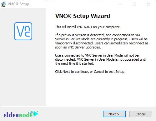 VNC setup wizard