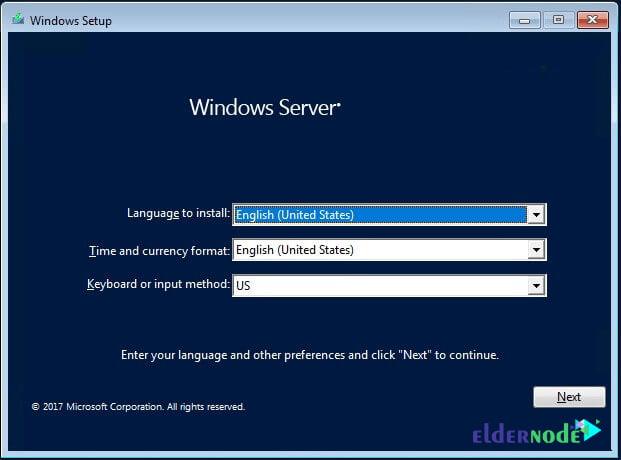 language and keyboard settings in Windows Server 2019