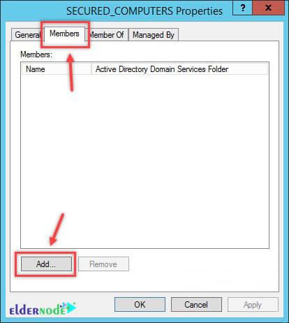 Secured computers properties in Active Directory