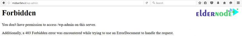 error 403 page