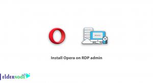 Install Opera on RDP admin