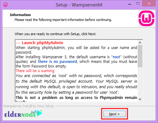 how to install wamp on rdp admin