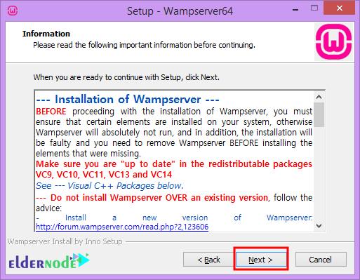 installation of wamp server