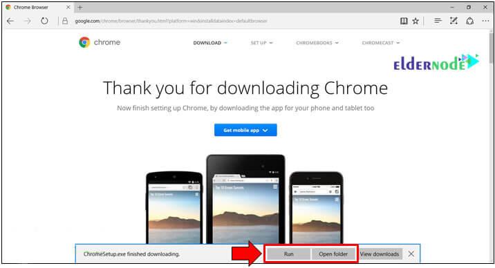 installing google chrome on windows server