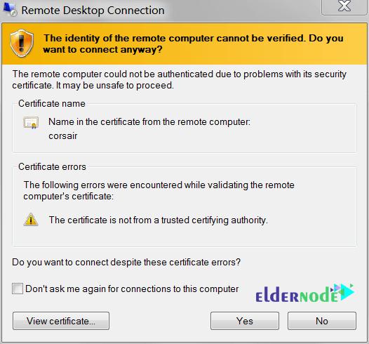 remote desktop certificate