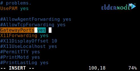 remote ssh port forwarding