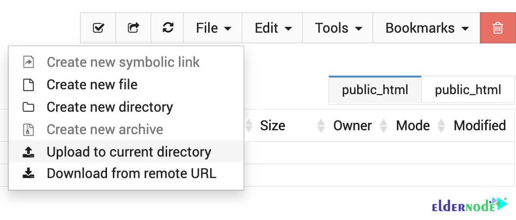 How to upload WordPress to Usermin