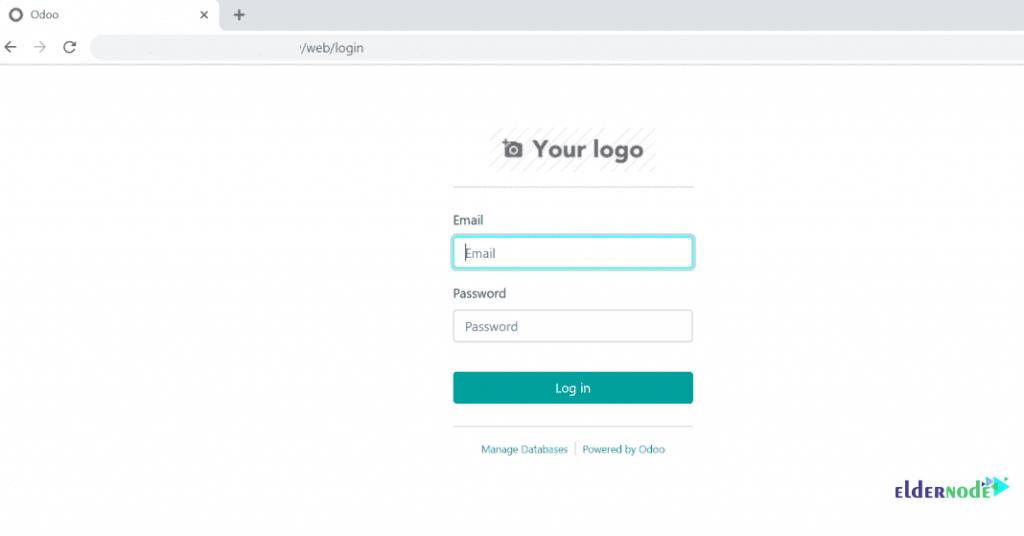 login page - Odoo With PostgreSQL On Centos 7
