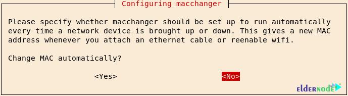 configuring macchanger in kali linux