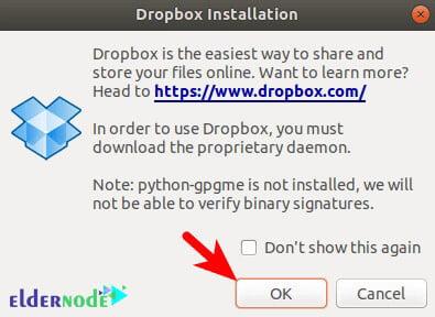 dropbox installation on ubuntu 20.10