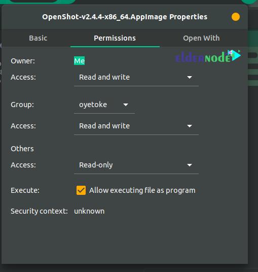 how to install appimage on ubuntu 20.10 Using Properties