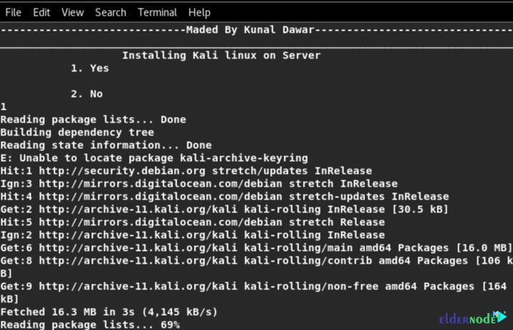 installing kali linux on server