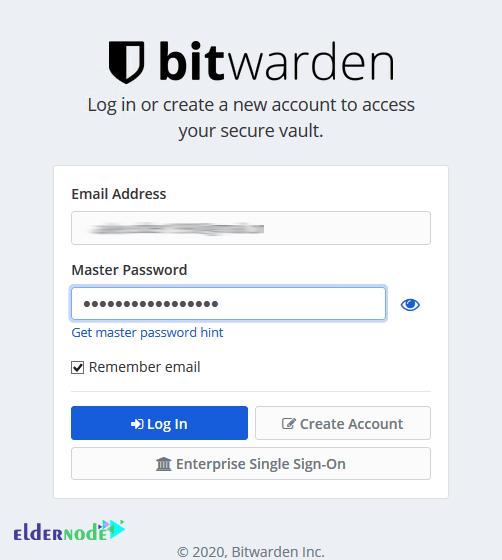 login to bitwarden vault