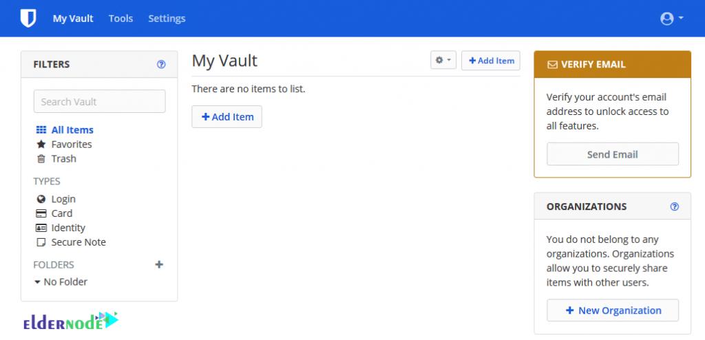 my vault in bitwarden