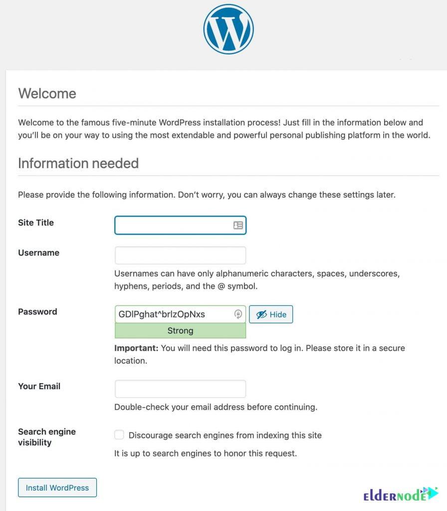 wordpress admin information