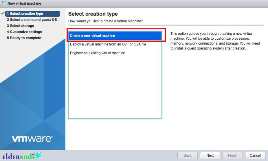 how to create virtual machine in esxi
