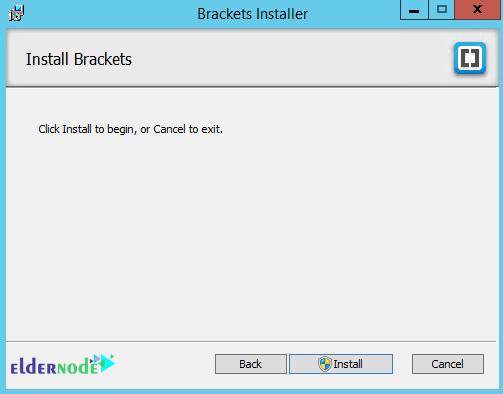 installing progress of brackets code editor