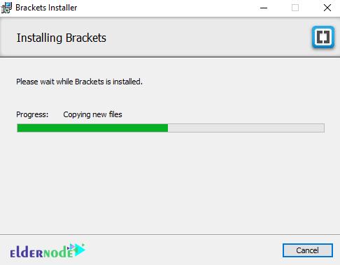 installing brackets code editor on windows rdp