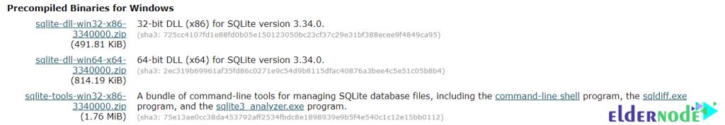 Download SQLite for windows