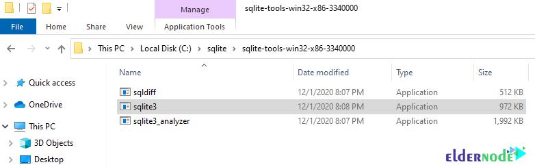 SQLite download path