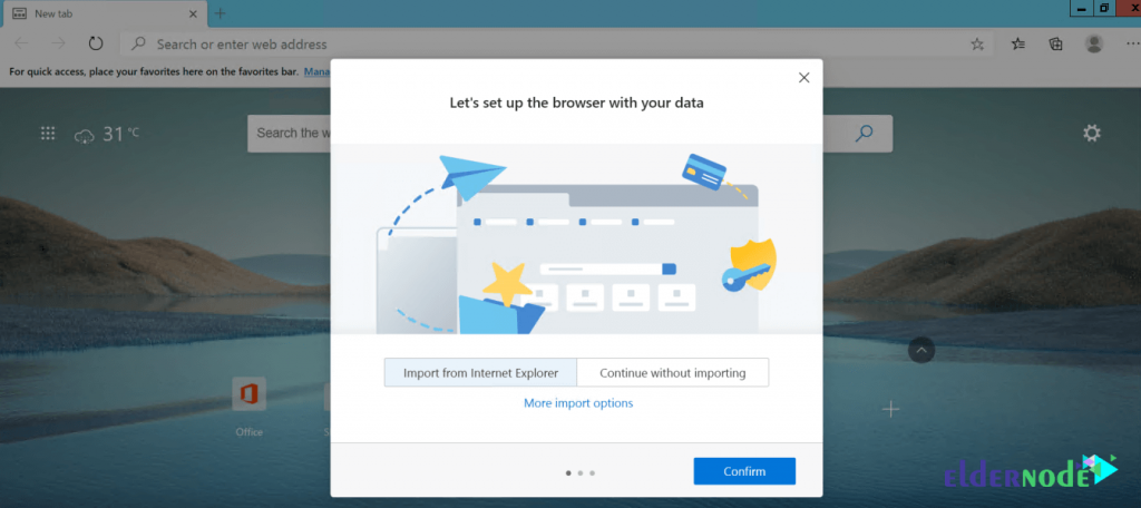 how to import data to edge