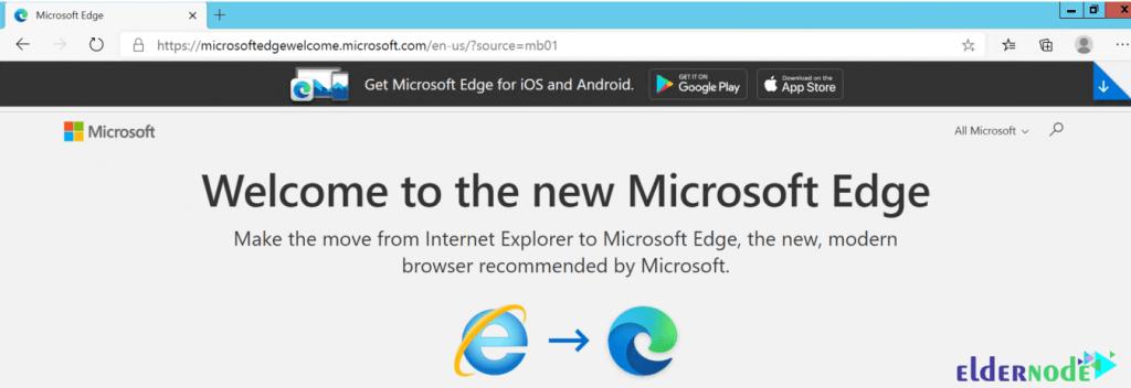 microsoft edge browser environment